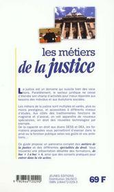 Metiers de la justice (les) - 4ème de couverture - Format classique