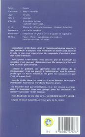 MARY LESTER T.28 ; Bouboule est mort - 4ème de couverture - Format classique