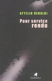 Pour Service Rendu - Intérieur - Format classique