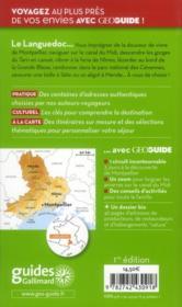 Geoguide ; Languedoc - 4ème de couverture - Format classique