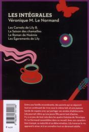 La vie de Lily - 4ème de couverture - Format classique