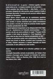 La Veritable Histoire De Lutte Ouvriere - 4ème de couverture - Format classique
