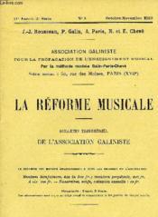 La Reforme Musicale - Couverture - Format classique