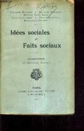 Idees Sociales Et Faits Sociaux. - Couverture - Format classique