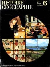Histoire geographie 6e - Couverture - Format classique