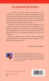 Chemin de Ncéli - 4ème de couverture - Format classique