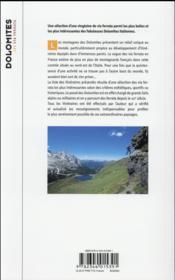 Les via ferrata des Dolomites - 4ème de couverture - Format classique