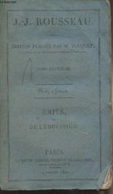 Emile ou de l'éducation - Tome 2 - Couverture - Format classique