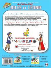 Cahier de vacances Jules et Léonie ; du CM1 au CM2 - 4ème de couverture - Format classique