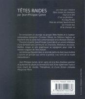 Tetes raides - 4ème de couverture - Format classique