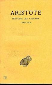 Histoire des animaux t. ; L8-10 - Couverture - Format classique