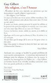 Ma Religion, C'Est L'Amour - 4ème de couverture - Format classique