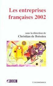 Les entreprises francaises ; edition 2002 - Intérieur - Format classique