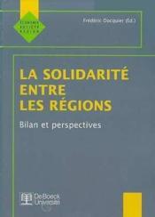 Solidarite Entre Les Regions (La) - Couverture - Format classique