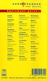 Les mouches, de Jean-Paul Sartre - 4ème de couverture - Format classique