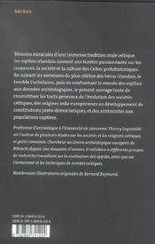 Cuchulainn. Mythes Guerriers Et Societes Celtiques - 4ème de couverture - Format classique