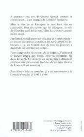 Comedie francaise, roman - 4ème de couverture - Format classique