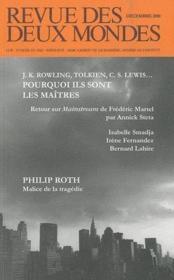 Revue Des Deux Mondes ; J.K. Rowling, Tolkien, C.S. Lewis... Pourquoi Ils Sont Les Maîtres - Couverture - Format classique