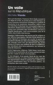 Un voile sur la republique - 4ème de couverture - Format classique