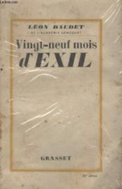 Vingt Neuf Mois Dexil. - Couverture - Format classique