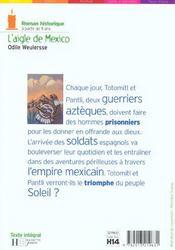 L'Aigle De Mexico - 4ème de couverture - Format classique
