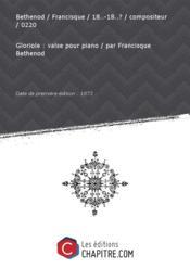 Partition de musique : Gloriole : valse pour piano [édition 1873] - Couverture - Format classique