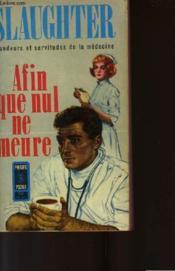Afin Que Nul Ne Meure - That None Should Die - Couverture - Format classique