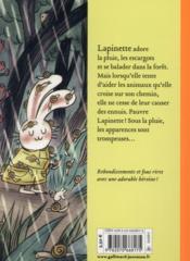 Les ennuis de Lapinette - 4ème de couverture - Format classique
