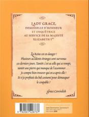 Lady Grace T.3 ; intrigue au bal masqué - 4ème de couverture - Format classique