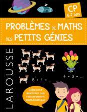 Problèmes de maths des petits génies ; CP - Couverture - Format classique