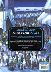 La Reine des Neiges ; où se cache Olaf ? - 4ème de couverture - Format classique