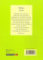 Petite soeur - 4ème de couverture - Format classique