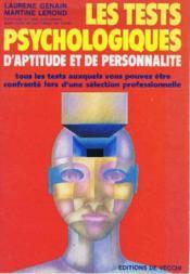 Tests Psychologiques D'Aptitudes Et De Personnalite - Couverture - Format classique