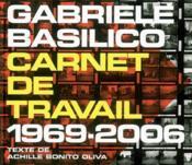 Carnet De Travail 1969-2006 - Couverture - Format classique