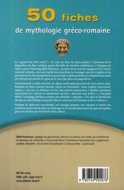50 fiches de mythologie gréco-romaine - 4ème de couverture - Format classique