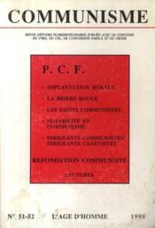 Revue Communisme N.51/52 ; Pcf - Couverture - Format classique