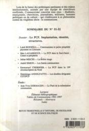 Revue Communisme N.51/52 ; Pcf - 4ème de couverture - Format classique