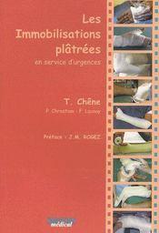 Les immobilisations plâtrées en service d'urgences - Couverture - Format classique