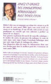 Horoscope 2004 ; Belier ; L'Annee Des Recoltes - 4ème de couverture - Format classique