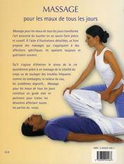 Massage pour les maux de tous les jours - 4ème de couverture - Format classique