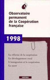 Rapport 1998 - Couverture - Format classique