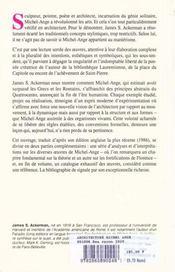 L'architecture de Michel-Ange - 4ème de couverture - Format classique