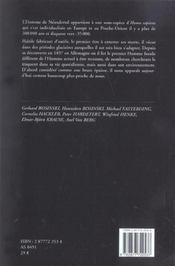 Les Hommes De Neandertal - 4ème de couverture - Format classique