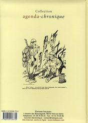 Agenda chronique (1917-2007) - 4ème de couverture - Format classique
