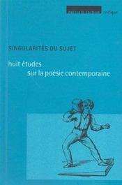 Singularites Du Sujet - Intérieur - Format classique