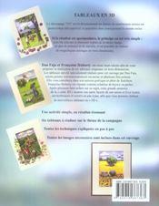 Tableaux en 3d - 4ème de couverture - Format classique