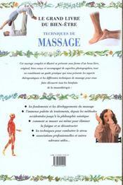 Guide Complet Illustre Du Massage - 4ème de couverture - Format classique