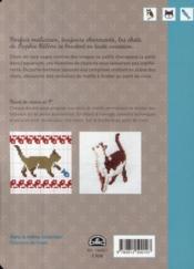 Histoires de chats ; des centaines de motifs à broder au point de croix - 4ème de couverture - Format classique