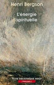 L'énergie spirituelle - Couverture - Format classique