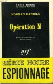 Operation N. Collection : Serie Noire N° 1088 - Couverture - Format classique
